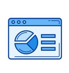 analytics line icon vector image