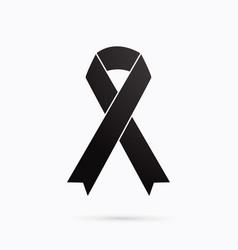 black ribbon sign graphic vector image