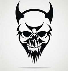 Devil Skulls Tribal vector image vector image