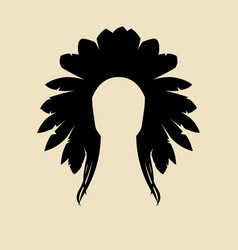 north american indian vector image