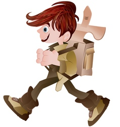 school boy vector image