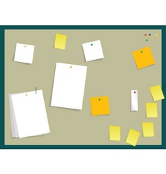 sticky board vector image vector image