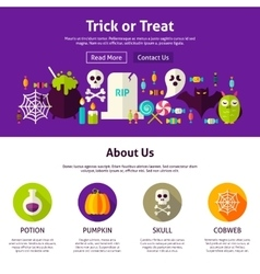 Trick or treat web design template vector