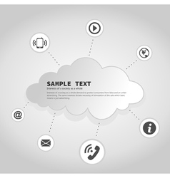 Business a cloud2 vector image vector image