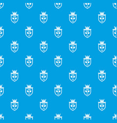 coat of arms of tennis club pattern seamless blue vector image vector image