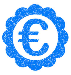 euro quality stamp grunge icon vector image vector image