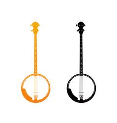 golden icon of banjo vector image