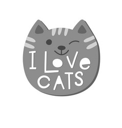 i love cats shirt quote lettering vector image vector image