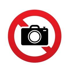 No photo camera sign digital photo camera symbol vector
