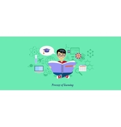 Process of Learning Icon Flat Design vector image vector image