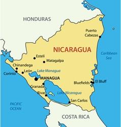 Nicaragua map Royalty Free Vector Image VectorStock