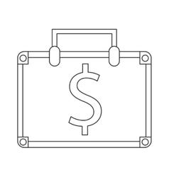 suitcase bag money business symbol vector image
