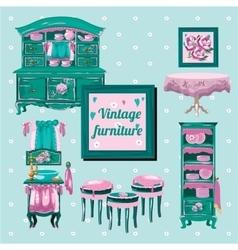 Vintage furniture interior old object vector image vector image