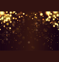 abstract defocused circular golden luxury gold vector image