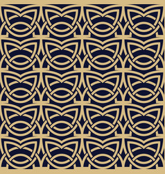 abstract seamless pattern with celtic knot vector image