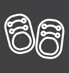Baby shoes line icon footwear and fashion vector