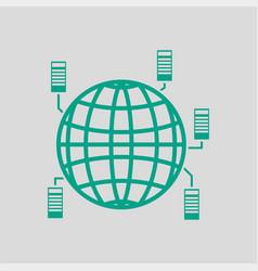 Big data icon vector
