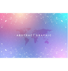 big data visualization geometric graphic vector image
