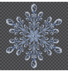 Big translucent crystal snowflake vector