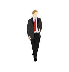 black suit businessman people vector image