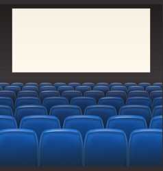 Blue seats with blank screen vector