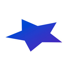 blue star icon isometric style vector image
