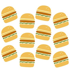Burger pattern vector