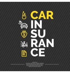 Car insurance poster vector