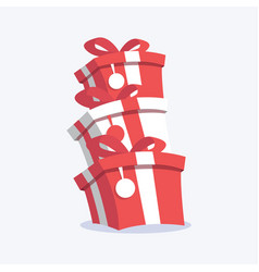 celebration gifts with ribbon vector image