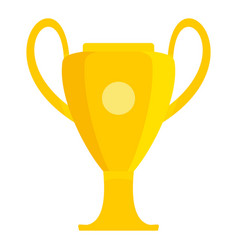 Champions soccer cup icon flat style vector