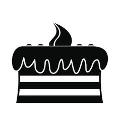 Chocolate cake icon vector