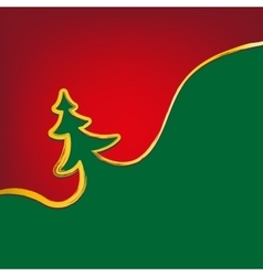 christmas background christmas-tree strokes symbol vector image