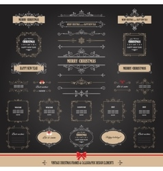 Christmas frames banners big set vector image