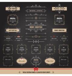 Christmas frames banners big set vector