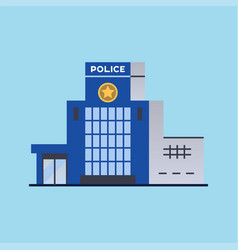 city police station department building vector image