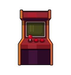 Classic arcade machine old style gaming cabinet vector