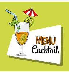 Cocktail bar menu vector