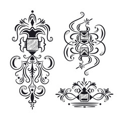 collection of ornate design elements vector image