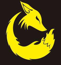 Conceptual fox profile vector