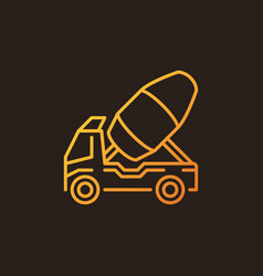 concrete truck outline colorful icon vector image