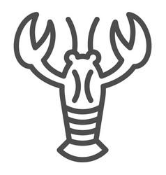 Crayfish line icon crustacean vector