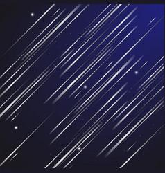 design abstract shooting star at night sky vector image