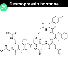 Desmopressin hormone structure vector image
