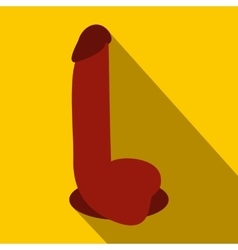 Dildo sex toy icon flat style vector image