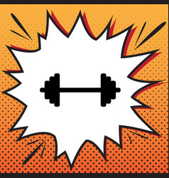 Dumbbell weights sign comics style icon vector