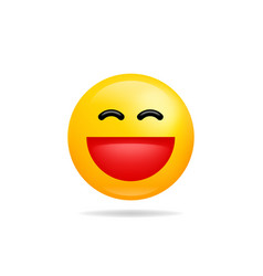 Emoji smile icon symbol grinning face yellow vector