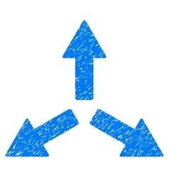 Expand Arrows Grainy Texture Icon vector