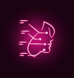 facial plastic surgery neon icon elements of vector image