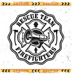 Firefighter rescue team emblem or logo vector