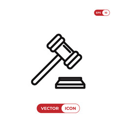 gavel icon vector image
